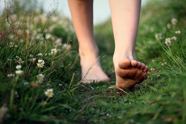 Barefoot-on-Grass